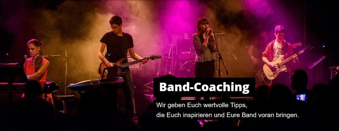 Band-Coaching in der Musikschule Music Planet